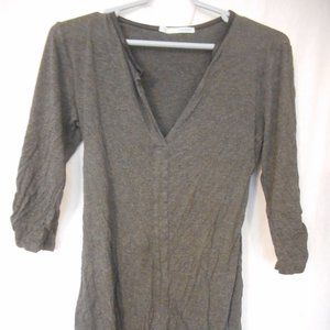 Grey 3/4 sleeve Maurices tie back Knit tunic top